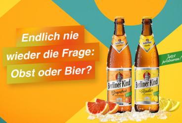 Obst oder Bier? Pushfire stellt Berliner Kindl Mixe in Ad-Kampagne vor